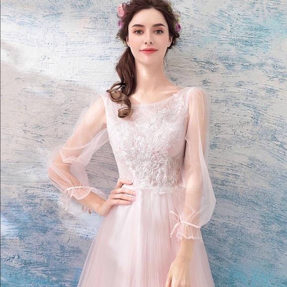 pink flowery bridal shower dress